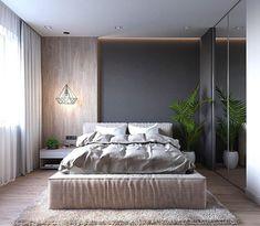 House contemporary interior loft 60 Ideas for 2019 Modern Bedroom Design, Master Bedroom Design, Bed Design, Home Bedroom, Bedroom Wall, Home Interior Design, Bedroom Ideas, Bedroom Designs, Hotel Pillows