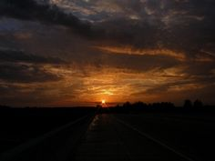 """St. Cloud Sun Sets in Waite Park."" - Cty Rd 6, St. Cloud Over Hwy 15 to Waite Park, By: Andrea Nistler, St. Cloud"