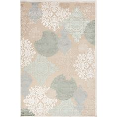 Transitional Floral Pattern Blue Rug (5' x 7'6) | Overstock.com Shopping - The Best Deals on 5x8 - 6x9 Rugs