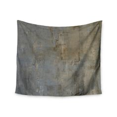 "CarolLynn Tice ""Overlooked"" Brown Gray Wall Tapestry"