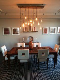 14 Pendant Wood Chandelier - Handmade to Order - Custom Wood Stain Colors - Dining Room Lighting - Rustic Modern Ceiling Light Fixture Dining Room Colors, Dining Room Lighting, White Ceiling, Modern Ceiling, Wood Stain Colors, Rustic Chandelier, Chandeliers, Custom Wood, Modern Rustic