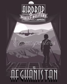 Share Squadron Posters for a 10% off coupon! C-130 Airdrop Afghanistan poster print #http://www.pinterest.com/squadronposters/