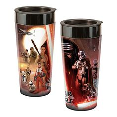 2747f3934898 Amazon.com  Star Wars Episode VII 16 Oz. Plastic Travel Mug 99152  Kitchen    Dining
