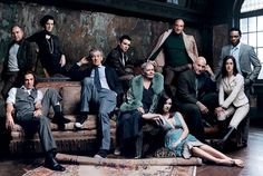<strong>Shakespearean actors:</strong> Performers featured in the Royal Shakespeare Company's Complete Works Festival: Greg Vinkler, William Houston, Harriet Walter, Ian McKellen, Rupert Evans, Judi Dench, Morven Christie, F. Murray Abraham,  Patrick Stewart, Claire Lautier, and Chuk Iwuji, April 2006.