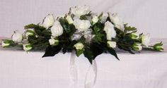 wedding flowers top table decoration ivory roses | eBay