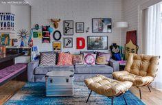 decoração apartamento sofa roxo - Pesquisa Google