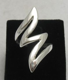 Sterling Silver Ring Forked Lightning Size 4 - 11