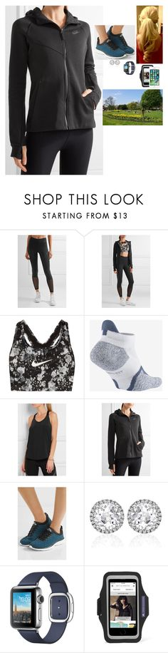 """Running around Hyde Park as a training for the London Marathon"" by fashion-royalty ❤ liked on Polyvore featuring NIKE, Athletic Propulsion Labs, Kiki mcdonough, adidas and Apple"