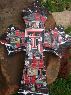 Hey, I found this really awesome Etsy listing at http://www.etsy.com/listing/153837166/texas-tech-16-wooden-cross