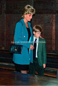 Princess Diana and Prince Harry. She was such a great mother.