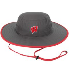 Wisconsin Badgers Top of the World Chili Dip Boonie Bucket Hat - Charcoal