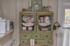 Antique spice shelf