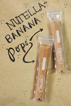 Nutella-Banana Zipzicle® Ice Pops - Recipe at http://zipzicles.com/recipes/nutella-banana-zipzicle-ice-pops/