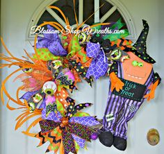 Trick or Treat Wreath, Halloween Wreath, Fall Wreath, Grapevine Wreath, Halloween Decoration, Halloween Decor, Fall Decoration, Fall Decor by BlossomShopWreaths on Etsy