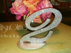 New** Bling Boss Glittered Table Numbers for Weddings Parties and Events vintage style