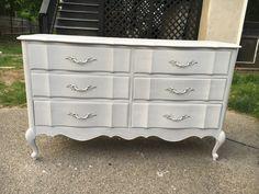 French Provincial 6 Drawer Dresser by MyHiddenGems on Etsy