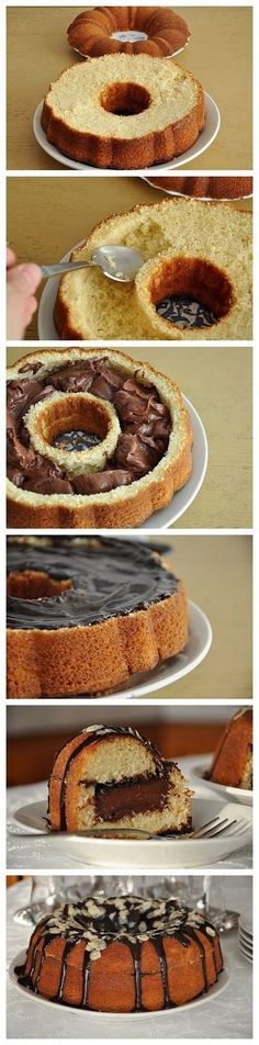 Wonderful DIY Delicious Chocolate Filled Cake