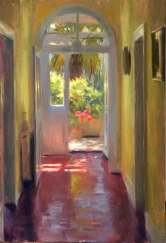 Back-door-to-garden.   Aldo Balding. Artist Unknown.