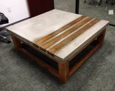 Image result for copper inlay in concrete tables