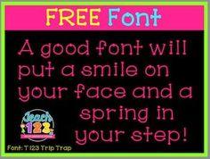 Free Font #TPT #Freebie #Teach123
