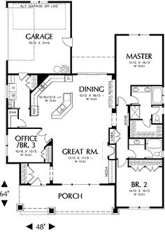 First Floor Plan image of Ellington House Plan layout