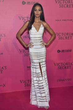 Joan Smalls in Adam Selman - Red Carpet, Victoria's Secret Fashion Show 2016