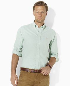 Polo Ralph Lauren Shirt, Classic-Fit Solid Oxford Shirt - Mens Shirts - Macy\u0026#39;s