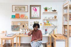 Christian Robinson, Dream Desk, Art Studio Design, Candle Store, Creative Visualization, Home Office Decor, New Room, Home Textile, Bookshelves