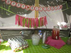 Watermelon themed birthday party!