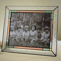 A Unique Gift Idea from ArtCraftGifts - J devlin rose glass free standing picture frame 8x10 Picture Frames, Landscape Photos, Rose, Glass Art, Pink, Christmas Decorations, Texture, Vintage, Awesome