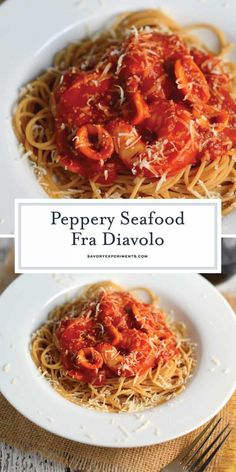 This Seafood Fra Diavolo Recipe is one of my favorite seafood pasta recipes ever! Fra Diavolo is a deliciously spicy marinara with fresh seafood! Seafood Fra Diavolo Recipe - A Tasty Spicy Pa Fra Diavolo Sauce Recipe, Seafood Fra Diavolo Recipe, Pasta Marinara, Marinara Recipe, Seafood Boil Recipes, Lobster Recipes, Seafood Meals, Seafood Dinner, Fresh Seafood