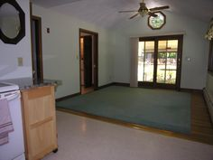 The family room has a sliding door to the back deck.