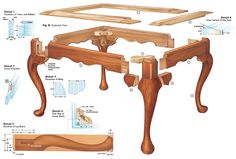 Queen Anne Footstool & Cabriole Leg - Woodworking Projects - American Woodworker