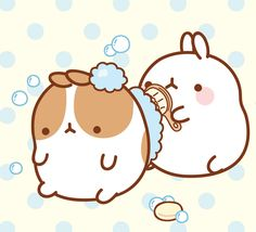 Molang being a good friend!! Friends always help each other out, of course!