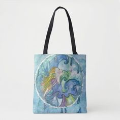Fairy of Water Tote Bag   Zazzle.com Pouch, Fairy, Reusable Tote Bags, Water, Blue, Gripe Water, Sachets, Porch, Belly Pouch