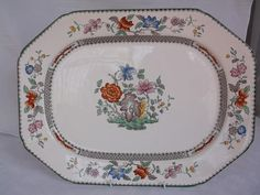 English Porcelain - Copeland Spode, England, Chinese Rose groot vleisbord. Pragtig for sale in Parys (ID:219496922)