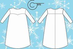 Sewing Pattern Elsa Dress Children Sizes 38 by CJets on Etsy, $10.00
