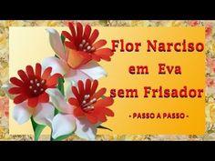 FLOR NARCISOS DE EVA SEM FRISADOR -  PASSO A PASSO