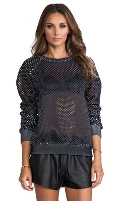 Grid Neoprene Top