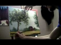 ▶ How To Paint A Farm Scene - Acrylic Painting Lessons by Brandon Schaefer - YouTube