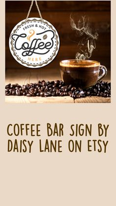 Coffee Nook, Coffee Art, Coffee Bar Signs, Coffee Lover Gifts, Home Accents, Home Interior Design, Anniversary Gifts, Farmhouse Decor, Birthday Gifts