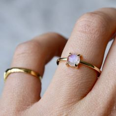 9ct Gold Rose Cut Moonstone Ring Or Rose, Rose Gold, Moonstone Ring, Stacking Rings, Gold Bands, Feminine, Silver Rings, Pretty, Jewelry