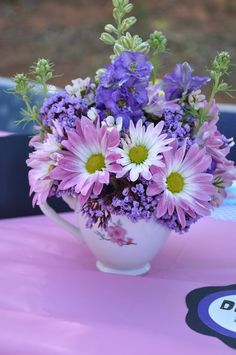 A cup of tea is nice but a cup of flowers is even better!