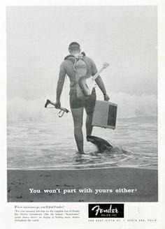 Fender Guitar Ad, Dive History