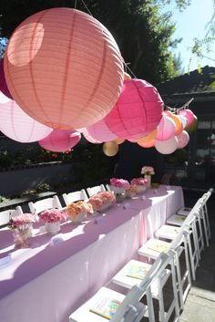baby shower table setting #tablescape