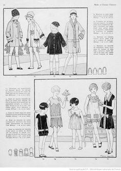 robes et manteaux pour fillettes ann es 20 ann es 20 pinterest vintage fran ais et enfants. Black Bedroom Furniture Sets. Home Design Ideas
