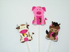 A personal favorite from my Etsy shop https://www.etsy.com/listing/210425781/12-farm-animals-cupcake-toppers-party