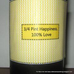 diy valentine beer labels