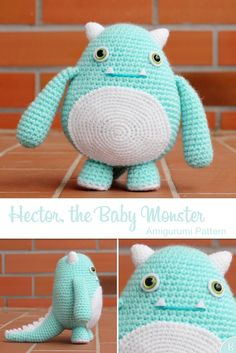 Hector, the Baby Monster - Amigurumi crochet pattern