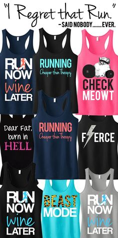 I want all of these! I bribe myself into working out on off days with cute clothes to sweat in.